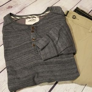 Vans Blue And Grey Quarter Button Thermal